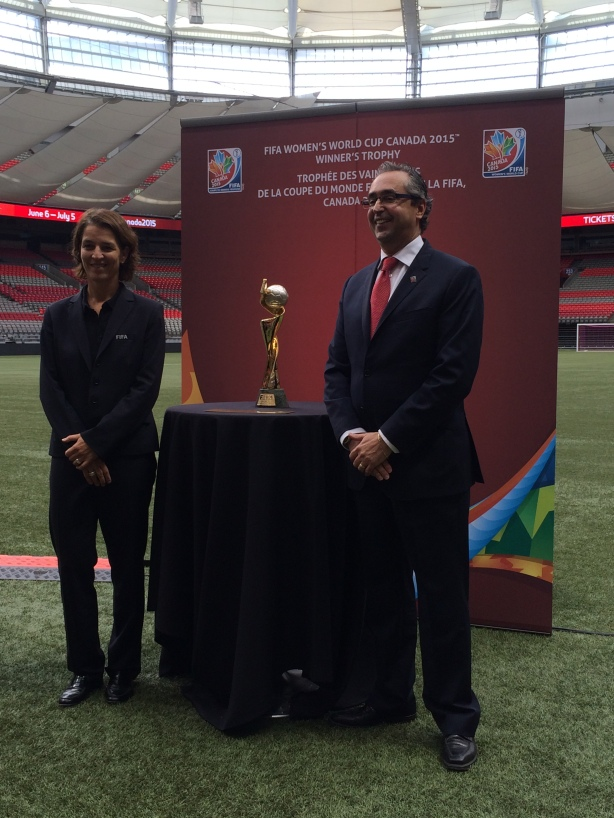 FIFA conducted a final site and stadium inspection of BC Place in Vancouver.