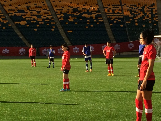 Canada is hoping to find a striker partner for Christine Sinclair at the World Cup.