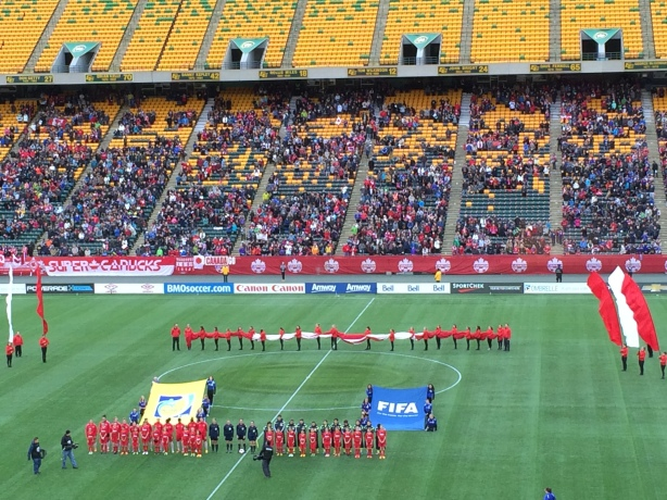 Canada vs Japan at Commonwealth Stadium in Edmonton, Alberta.