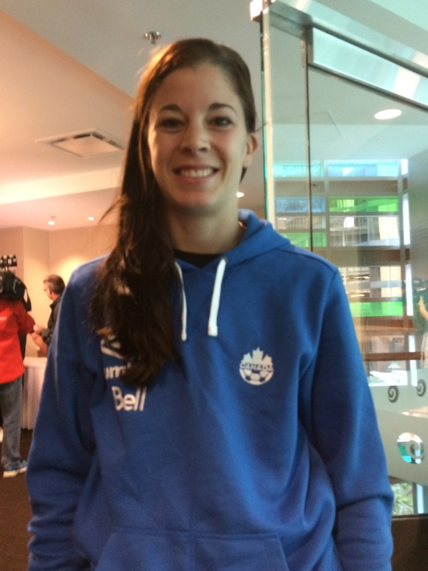 Stephanie Labbe is ready to face Japan on October, 28 at BC Place in Vancouver.
