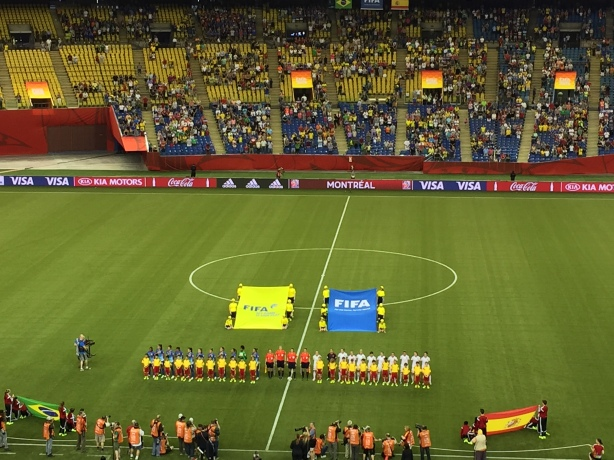 Brazil defeated Spain 1-0 in Group E competition at Olympic Stadium in Montreal, Quebec on June 13.