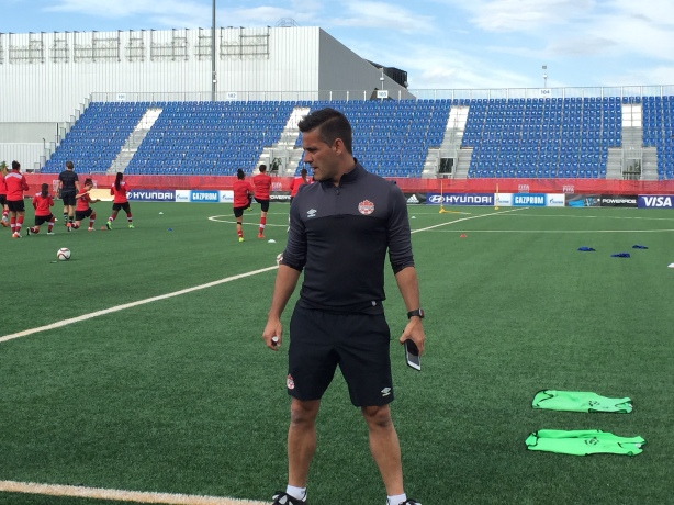 Canada Coach John Herdman during a training session for Canada in Edmonton, Alberta.