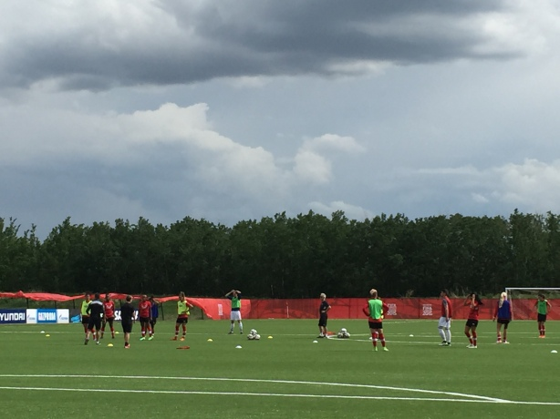 Team Canada held a training session in Edmonton, Alberta on Thursday, June 4.
