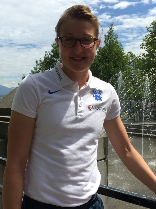 England and Notts County Striker Ellen White in Vancouver, B.C.