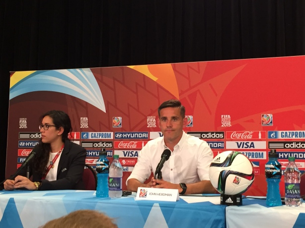 Canada Coach John Herdman after England knocked Canada out of the World Cup on June 27.
