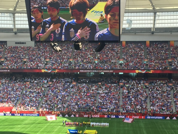 Japan lost the 2015 FIFA Women's World Cup Final 5-2 at BC Place in Vancouver, B.C. on July 5