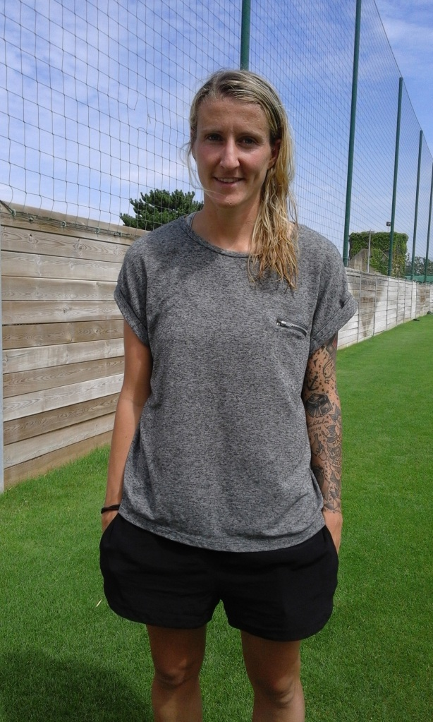 PSG and Germany Striker Anja Mittag after training in Paris, France
