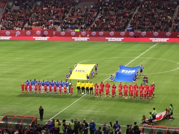 Canada vs Honduras at BC Place in Vancouver on Friday, November 13