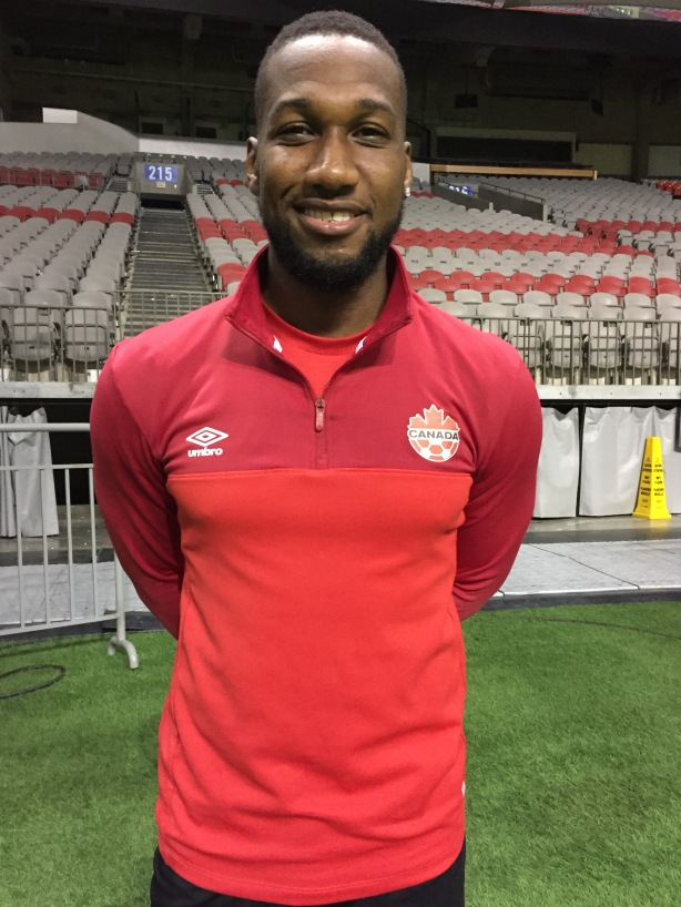 Canada Winger Junior Hoilett at training at BC Place in Vancouver, B.C.