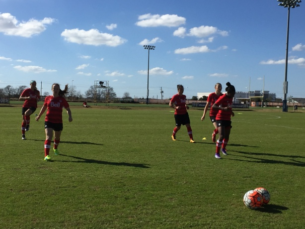 Team Canada training in Houston, Texas.