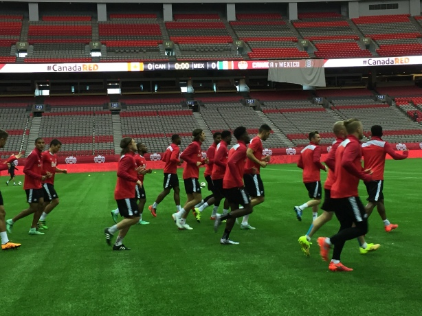 Canada gets in a final training session on Thursday, March 24 as they prepare to play Mexico.