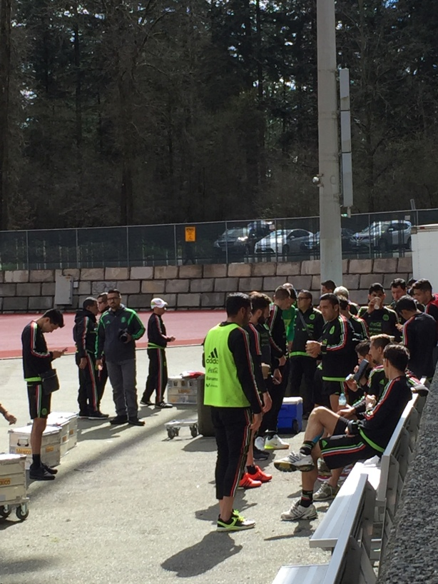 Team Mexico training at Swangard Stadium in Burnaby, B.C. on Tuesday, March 22.