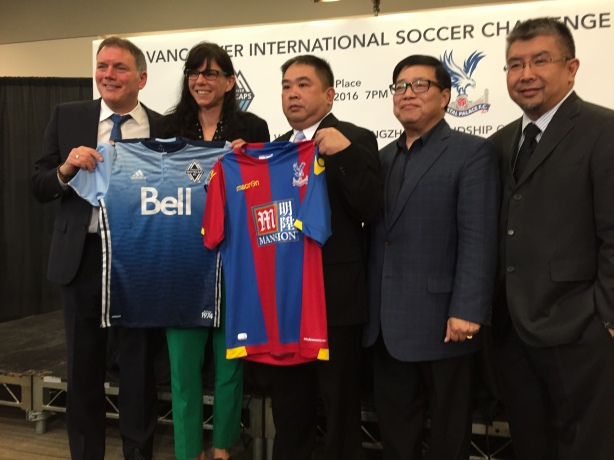 The Vancouver Whitecaps will play Crystal Palace on July 19 in a friendly match at BC Place.
