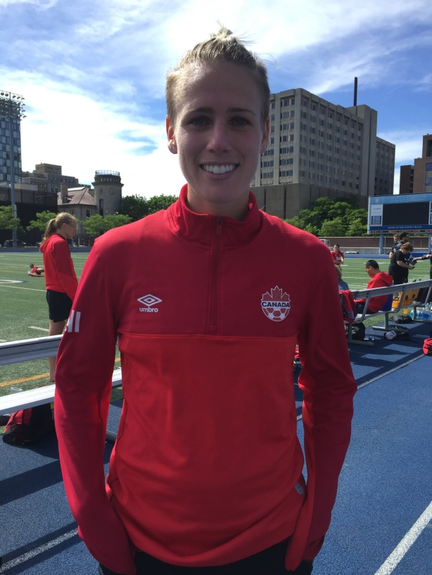 Canada's Sophie Schmidt following practice in Toronto this week.