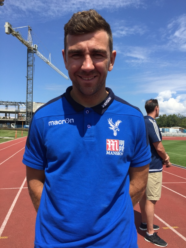 Crystal Palace Midfielder James McArthur following training at UBC, in Vancouver.