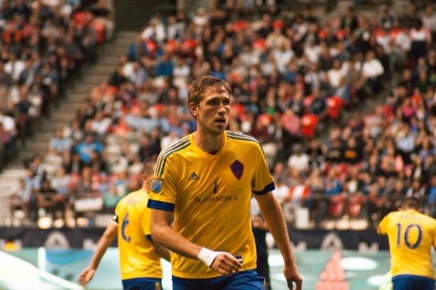 Colorado Rapids centre-back Axel Sjoberg at BC Place on Saturday, July 9. Photo Credit: William Hitchcock.