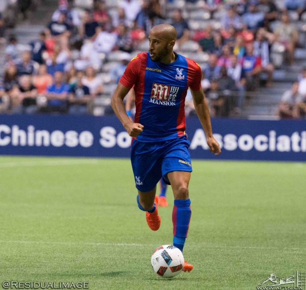 Crystal Palace winger Andros Townsend during a match at BC Place in Vancouver, Tuesday July 18. Photo Credit: Residualimage