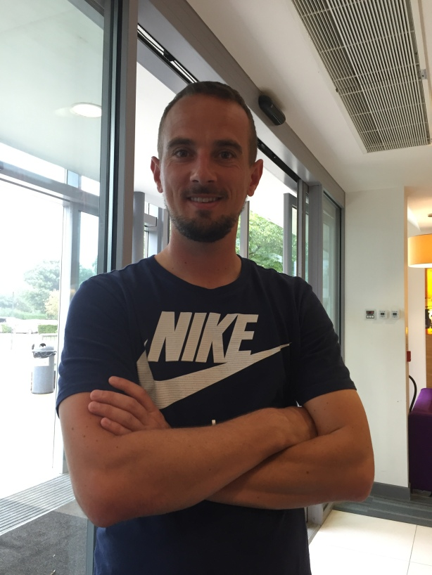England Manager Mark Sampson at Bisham Abbey Sports Centre.