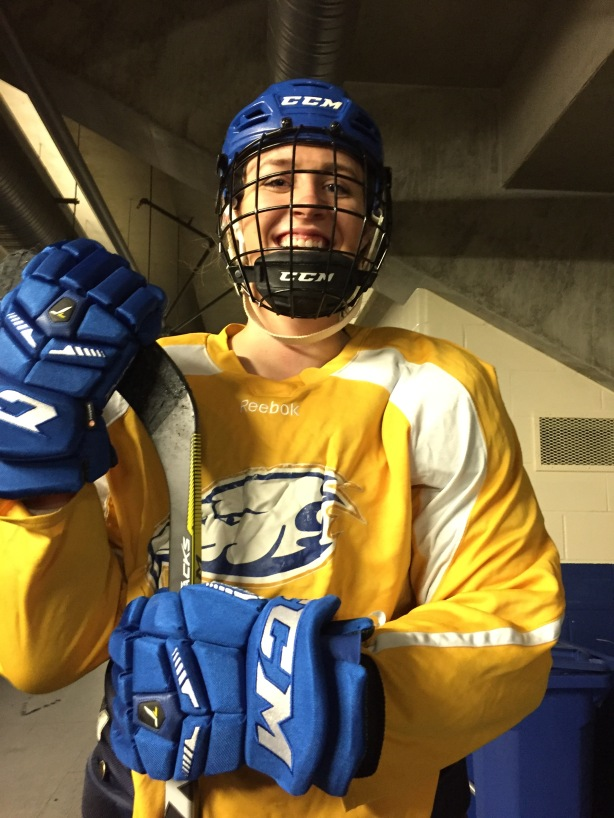 UBC Thunderbirds forward Kathleen Cahoon following practice on October 12, 2016.