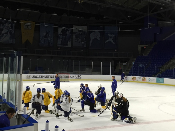 UBC Thunderbirds Coach Graham Thomas talks tactics following practice in Vancouver.
