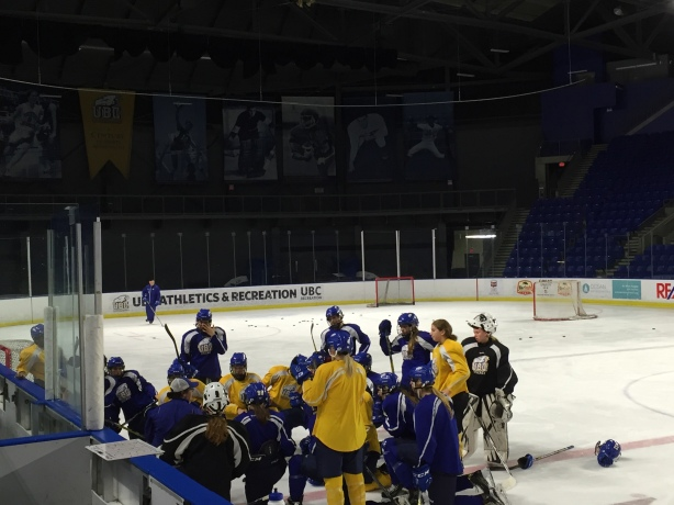 The UBC Thunderbirds are preparing to host the Vancouver Canucks for an open practice on Saturday.